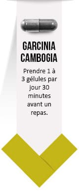 gélule noire de garcinia cambogia - posologie par weightworld sur un fond blanc