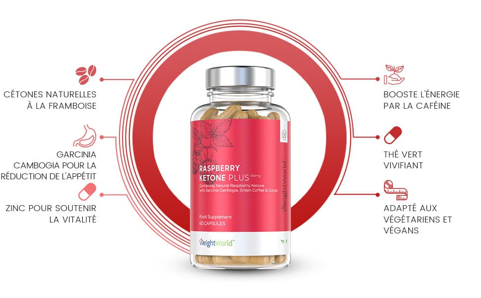 infographie de raspberry ketone plus cetone de framboise weightworld