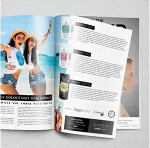 magazine qui fait la promotion du logo et des produits weightworld