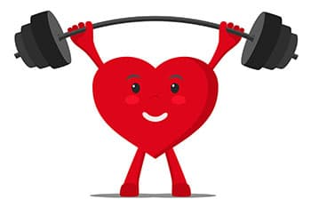 image d'un coeur rouge faisant de l'altérophilie - weightworld