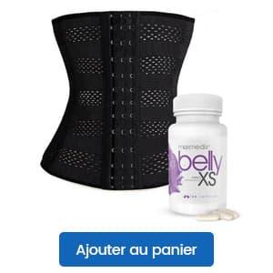 bundle pack corset minceur waist trainer et belly xs avec bouton ajouter au panier