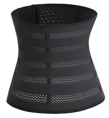 corset minceur en tissu noir pour homme et femme par weightworld