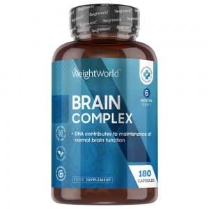Brain Complex - Complément Naturel pour la Performance Mentale avec Vitamines - 60 Gélules