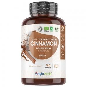 Cannelle de Ceylan Bio - Extrait concentré - WeightWorld - 180 Gélules