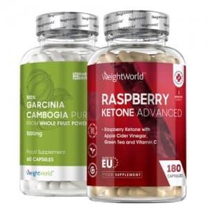 Garcinia Cambogia Pure + Raspberry Ketone Plus