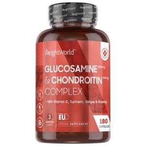 Glucosamine & Chondroïtine - Santé des Articulations - 180 gélules