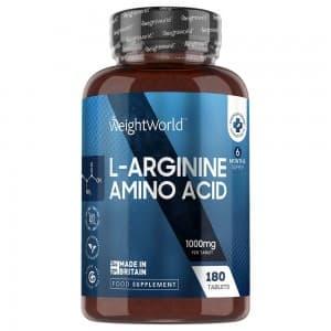 L-Arginine en comprimés -  Développement et Tonification de la Masse Musculaire - 180 comprimés