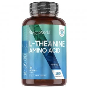 L-Théanine – Aide à apaiser l'humeur et réduire le stress – 180 gélules