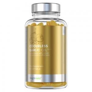 Gélules d'Huile d'Ail sans Odeur - Complément naturel pour le bien-être et la santé du cœur - 90 Gélules