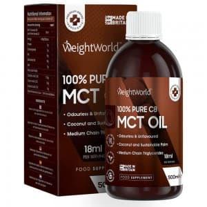 Huile TCM Pure (MCT C8) de WeightWorld 500ml