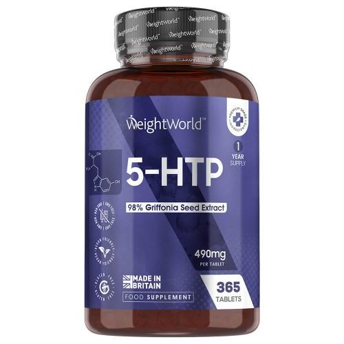 Traitement & Prévention 5-HTP en comprimés – Extrait pur de Graines de Griffonia Simplicifolia – 365 Comprimés