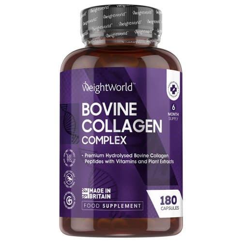 Crèmes et lotions corps Complexe de Collagène Bovin | Peptides de collagène hydrolysés | Formule 100% naturelle | 180 gélules