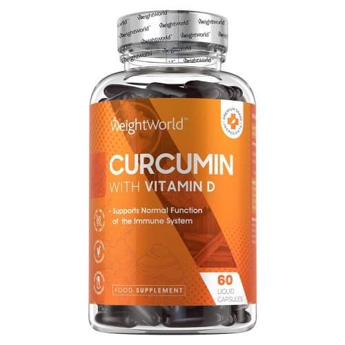 boite transparente du complement alimentaire curcumin pour le systeme immunitaire