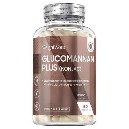 boite de glucomannan plus - complement minceur naturel au konjac sur fond blanc