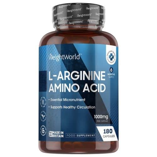 Compléments alimentaires L-Arginine en Gélules - Croissance et Performances musculaires - 180 Gélules