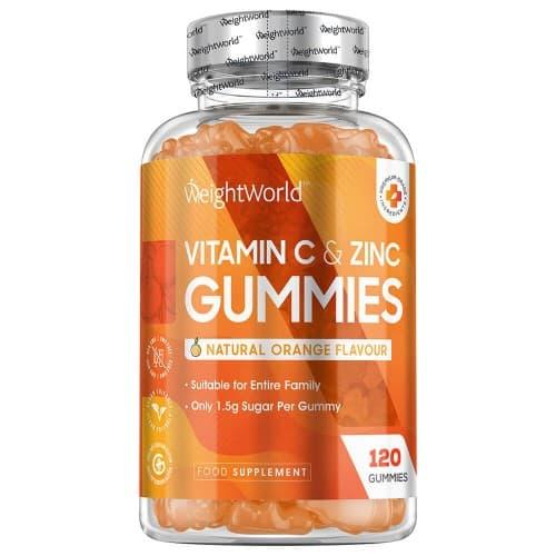 Multivitamines et mineraux Gummies Zinc et Vitamine C - Soutien Immunitaire Naturel - 120 Gummies