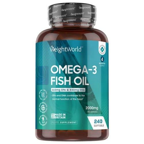 Coeur et circulation Huile de Poisson Omega 3 – 660 mg d'EPA et 440 mg de DHA - Soutien naturel à la santé cardiaque, cérébrale et immunitaire – 240 capsules molles